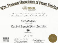 Certified Aging in Place Specialist (CAPS) - Click to view larger image