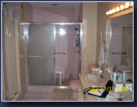 Before Accessible Shower